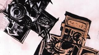 Fragmento de rayuela - litografia